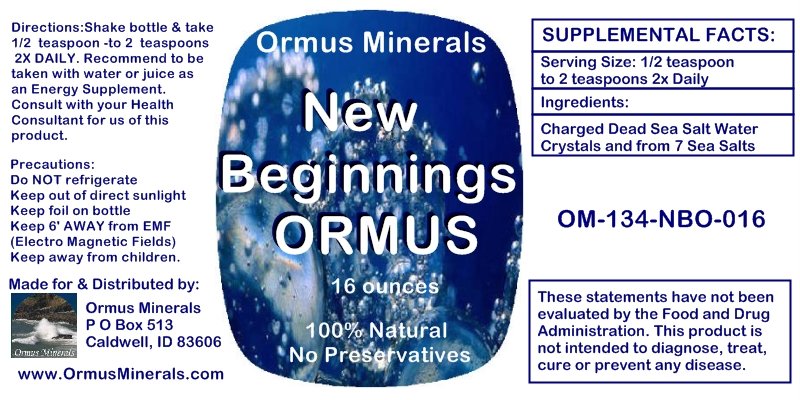 Ormus Minerals New Beginnings Ormus