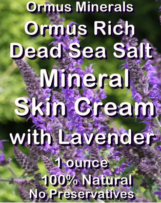 Ormus Minerals -Ormus Rich Dead Sea Salt Minerals Skin Cream with LAVENDER